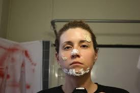 zombie makeup toilet paper elmer s glue