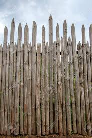 Ancient Wooden Fence With Sharp Tops For Protection Stock Photo Picture And Royalty Free Image Image 102150759