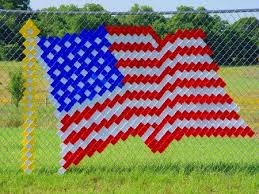Chain Link Fence Art Cups Bing Images Flag Crafts Fence Art Cup Art