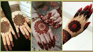 mehndi design arabic round