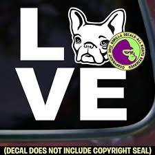 French Bulldog Love Word Dog Vinyl Decal Sticker Gorilla Decals