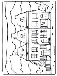 Huis 2 Kleurplaat Huizen