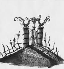 Graveyard Gate By Spookyspoots On Deviantart Tim Burton Art Nightmare Before Christmas Images Halloween Haunted Houses