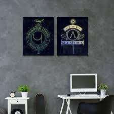 Artissimo Harry Potter Lumos Maxima Wingardium Leviosa Canvas Wall Art 2 Piece Set Canvas Wall Art Set Canvas Wall Art Wall Art Sets