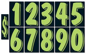 Advertising Number Window Stickers Cheap Ass Dealer Supplies