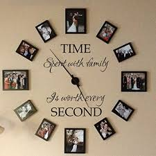 Wall Stickers Murals Family Wall Decal Vinyl Family Wall Quote Time Wall Sticker Picture Frame Decal Graphic Mural Home Art Decoration Time Spent With Family Is Worth Every Second