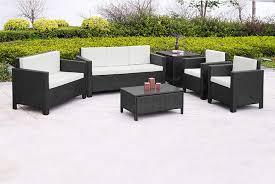 6 piece polyrattan garden set