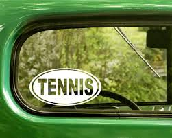 Tennis Decal Sticker The Sticker And Decal Mafia