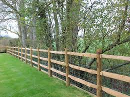 Heavy Post And Rail Fencing Jacksons Fencing