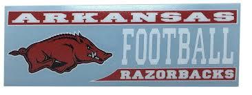 Razorbacks Arkansas Decal Football Block Alumni Hall