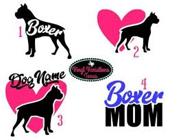 Boxer Dogs Lovers Vinyl Gloss Car Decal Sticker Window Bumper Archives Statelegals Staradvertiser Com