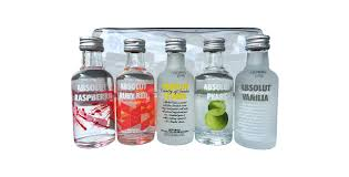 vodka absolut collection miniature set