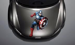 Car Hood Side Window Full Color Graphics Vinyl Sticker Captain America Decal Ebay