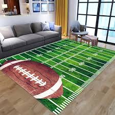 3d Green Football Carpet Kids Room Rug Field Parlor Bedroom Living Room Green Lawn Floor Mat Children Large Rugs Home Customized Afghan Rugs Aladdin Carpet From Aurorl 13 03 Dhgate Com