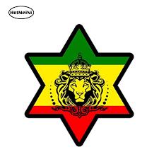 Hotmeini 13cm X 13cm Car Styling Sticker Car Decal Rasta Reggae Jah Macbook Lion Of Judah One Love Rastafarai Waterproof Car Stickers Aliexpress