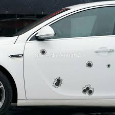 Funny Simulation Gun Bullet Hole Stickers Car Decal For Toyota Ford Chevrolet Volkswagen Vw Honda Hyundai Kia Lada Car Decal Sticker Car Transporters For Saledecals Numbers Aliexpress