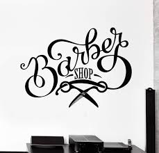 Vinyl Wall Decal Barbershop Scissors Signboard Beauty Hair Salon Stick Wallstickers4you