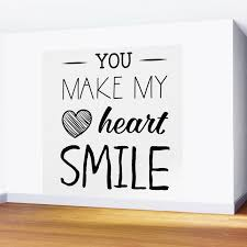 You Make My Heart Smile Wall Mural By Catmustache Society6