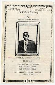 Funeral Program for Albert Kennedy, January 29, 1985] - The Portal to Texas  History