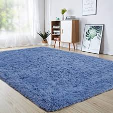 Amazon Com Junovo Ultra Soft Area Rugs 4 X 5 3ft Fluffy Carpets For Bedroom Kids Girls Boys Baby Living Room Shaggy Floor Nursery Rug Home Decor Mats Light Navy Furniture Decor