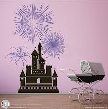 Castle With Fireworks Wall Decal Decor Graphicsmesh