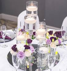 center pieces round mirror plate for