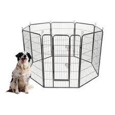 S Afstar Pet Playpen 8 Panels Foldable Dog Fence Metal Exercise Pen 48 40 32 24 Gate With Door For Indoor Outdoor Playpens Dogs