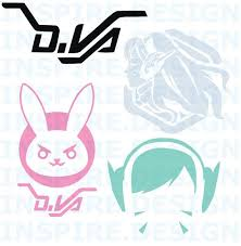 Overwatch D Va Decal Overwatch Decal Overwatch Tattoo Overwatch Costume