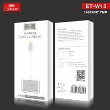 Cáp Chuyển đổi chân Lightning to HDMI Tivi, Máy Chiếu Earldom ET-W15