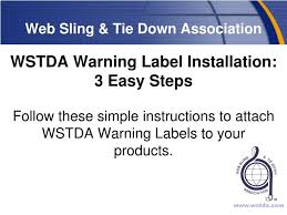 ppt web sling tie down association