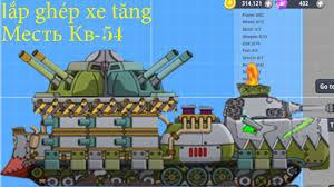super tank rumble | lắp ghép xe tăng hoạt hình Месть Кв-54 ( how to  building tank )