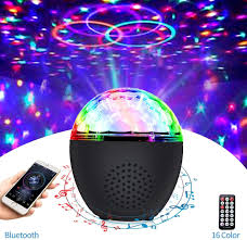 Amazon Com Disco Ball Lights Bluetooth Dj Party Lights With Remote Usb Powered 16 Color Portable Sound Activated Strobe Club Light For Kids Dance Parties Room Christmas Home Improvement