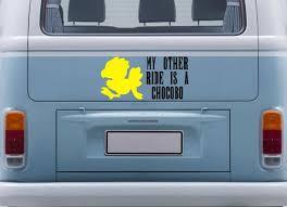 Final Fantasy My Other Ride Is A Chocobo Car Bumper Sticker Vinyl Decal On Etsy 12 00 Car Bumper Stickers Vans Stickers Bumper Stickers