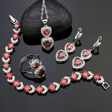 925 silver bridal jewelry sets