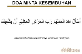 doa minta kesembuhan untuk diri sendiri sesuai sunnah