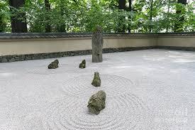 japanese zen rock garden at portland