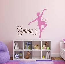 Amazon Com Custom Gymnastics Name Wall Decals Girls Kids Room Decor Nursery Wall Decals Ballerina Wall Decor For Girls Baby