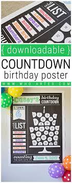 birthday countdown poster