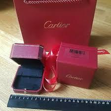 cartier jewelry box for earrings ebay