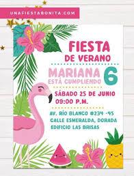 Tropical Flamenco And Pineapple Summer Invitation Pineapple