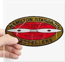 Amazon Com Cafepress Retro Hamilton Standard Propellers Logo Sticker Square Bumper Sticker Car Decal 3 X3 Small Or 5 X5 Large Home Kitchen