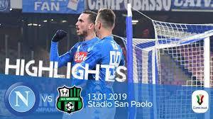 HL - Napoli V Sassuolo 2-0 (Coppa Italia) - YouTube