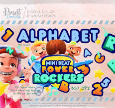 Alfabeto Mini Beat Power Rockers Clipart Mini Beat Power Rockers
