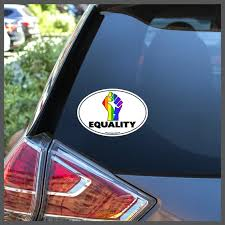 Lgbt Equality Rainbow Fist Removable Window Decal Or Car Etsy