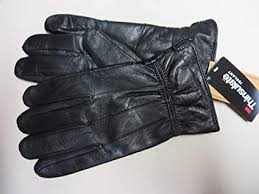 mens black leather gloves thinsulate