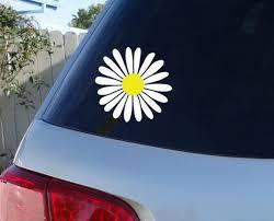Daisy Car Window Decal Flower Car Window Decal Flowers Etsy Flower Car Car Window Stickers Window Decals
