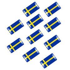 3d Aluminium Sweden Swedish Flag Car Sticker Emblem Badge X1 For Volvo Or Saab Car Body Exterior Styling Parts Vehicle Parts Accessories
