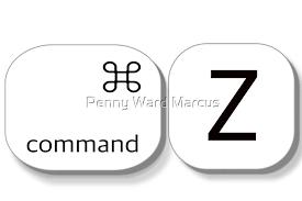 "Undo Command Z"" by Penny Ward Marcus | Redbubble"