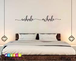Inhale Exhale Wall Decal Inhale Exhale Room Decor Yoga Wall Decal Inhale Exhale Sticker Yoga Studio Wall Art Zen Meditation Wall Decor Inhaleexhale Inhal Zen Meditation Wall Decals Modern Wall Decals