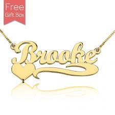 24k gold plated silver side heart name